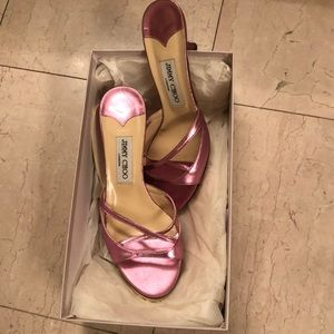 Jimmy choo slides perfect condition worn once